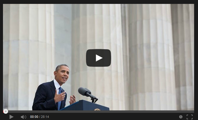"""The President at the """"Let Freedom Ring"""" Ceremony Commemorating the 50th Anniversary of the March on Washington"""