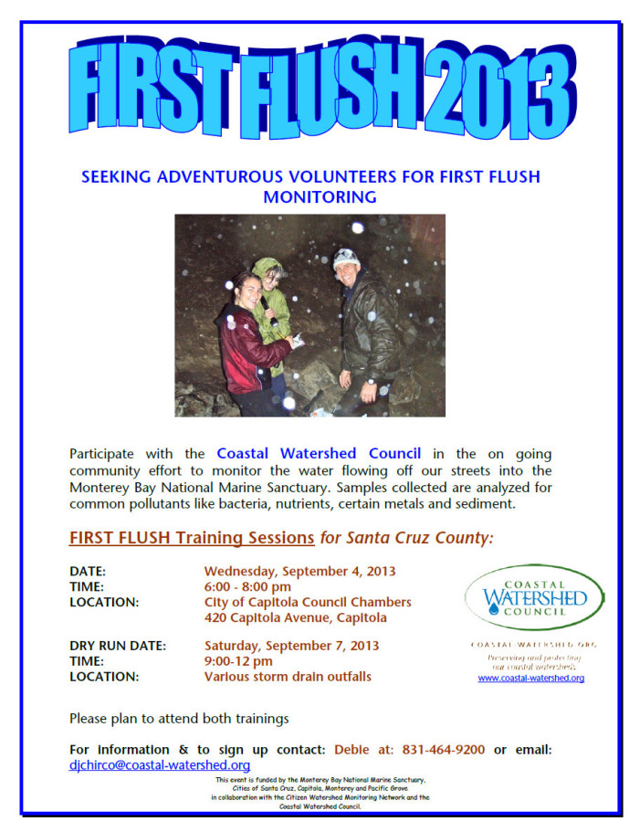 Watershed & Coastal Watershed Council Seeking Adventurous Volunteers For First Flush