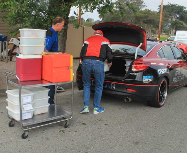 Mazda Pace Cars Are Revved Up To Participate In The Meals On Wheels