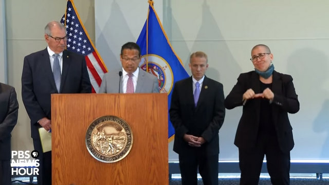 Attorney General Ellison charges Derek Chauvin with 2nd-degree murder of George Floyd, three former officers with aiding and abetting 2nd-degree murder