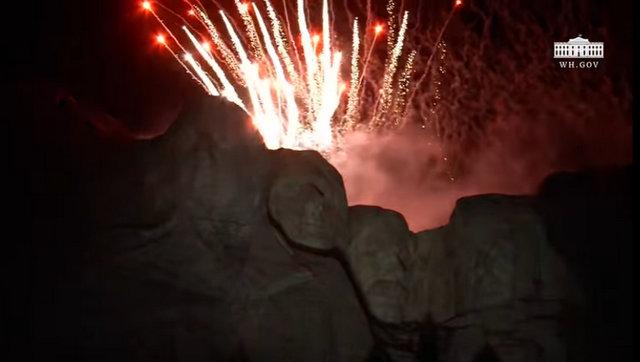 President Trump at South Dakota's 2020 Mount Rushmore Fireworks Celebration