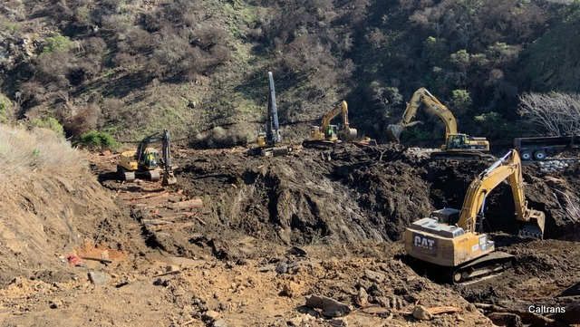 Caltrans Making Good Progress on Emergency Repairs for Highway 1 at Rat Creek