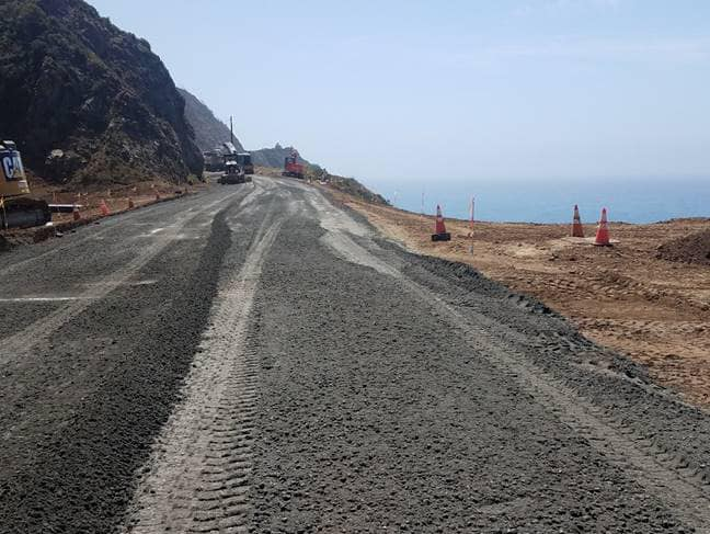 Highway 1 at Rat Creek to Open to Traffic April 23rd at Noon
