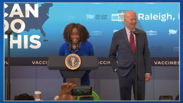 President Biden Highlighting the Importance of Getting Vaccinated