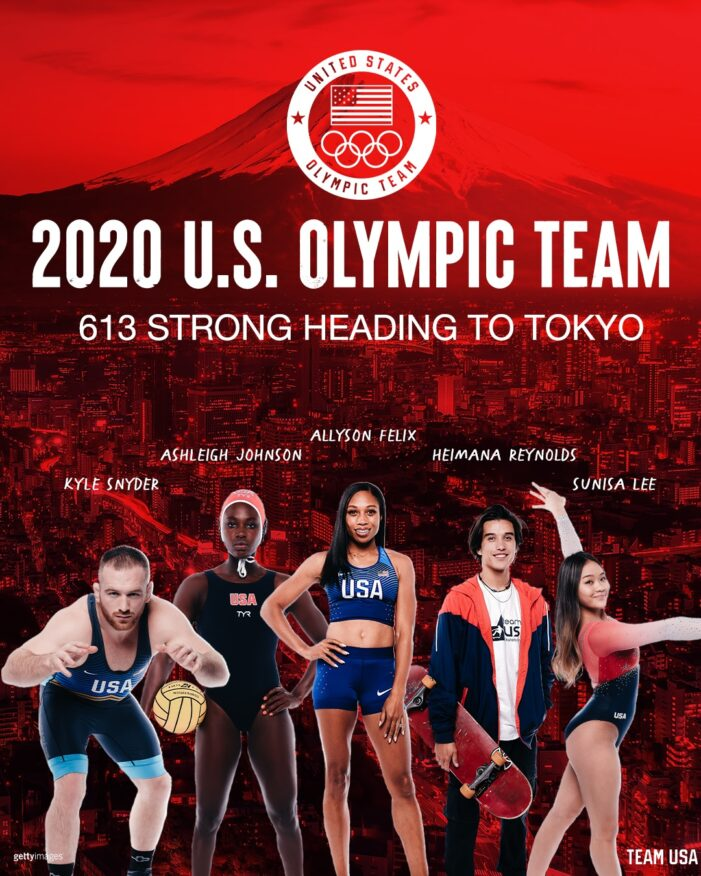 U.S. Olympic & Paralympic Committee Announces 613-Member 2020 U.S. Olympic Team