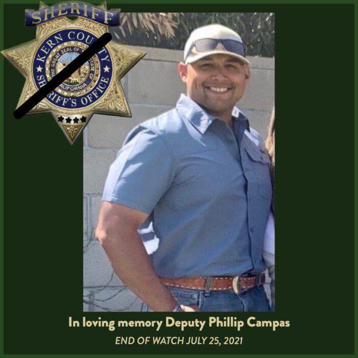 Kern County Sheriff's Deputy Lost His Life on July 25th