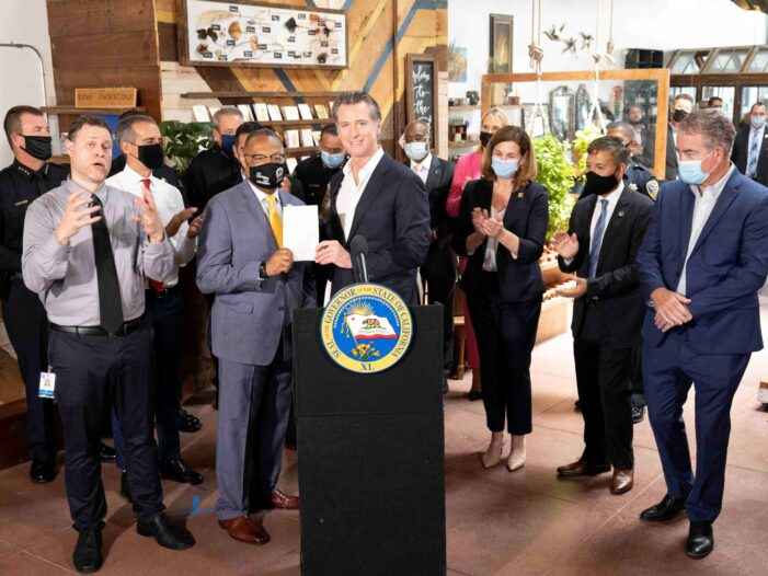 Governor Newsom Joins Law Enforcement Leaders & Mayors to Discuss State Efforts to Reduce Crime, Signs Legislation Targeting Organized Retail Theft